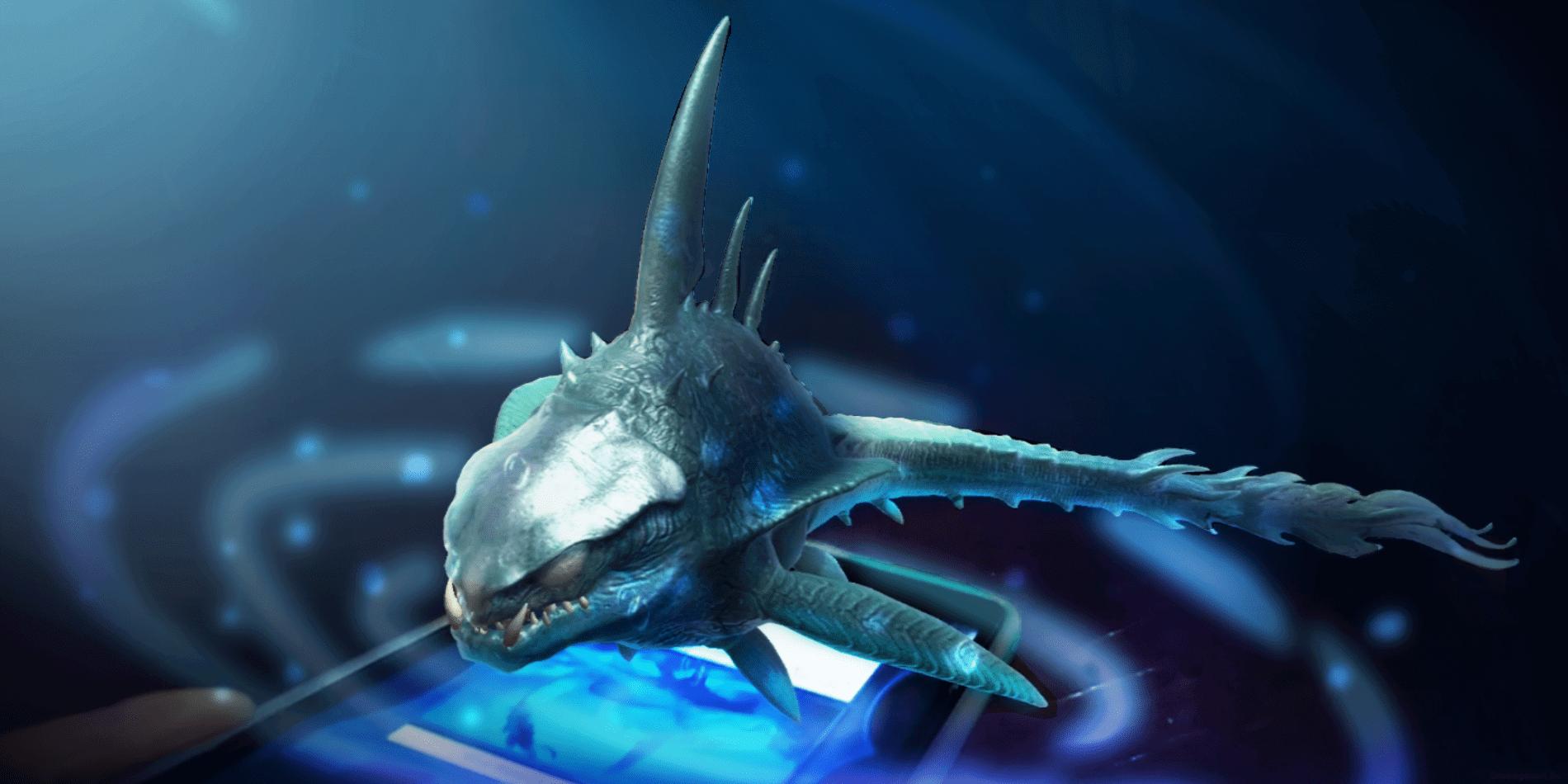 Monstruo marino en realidad aumentada