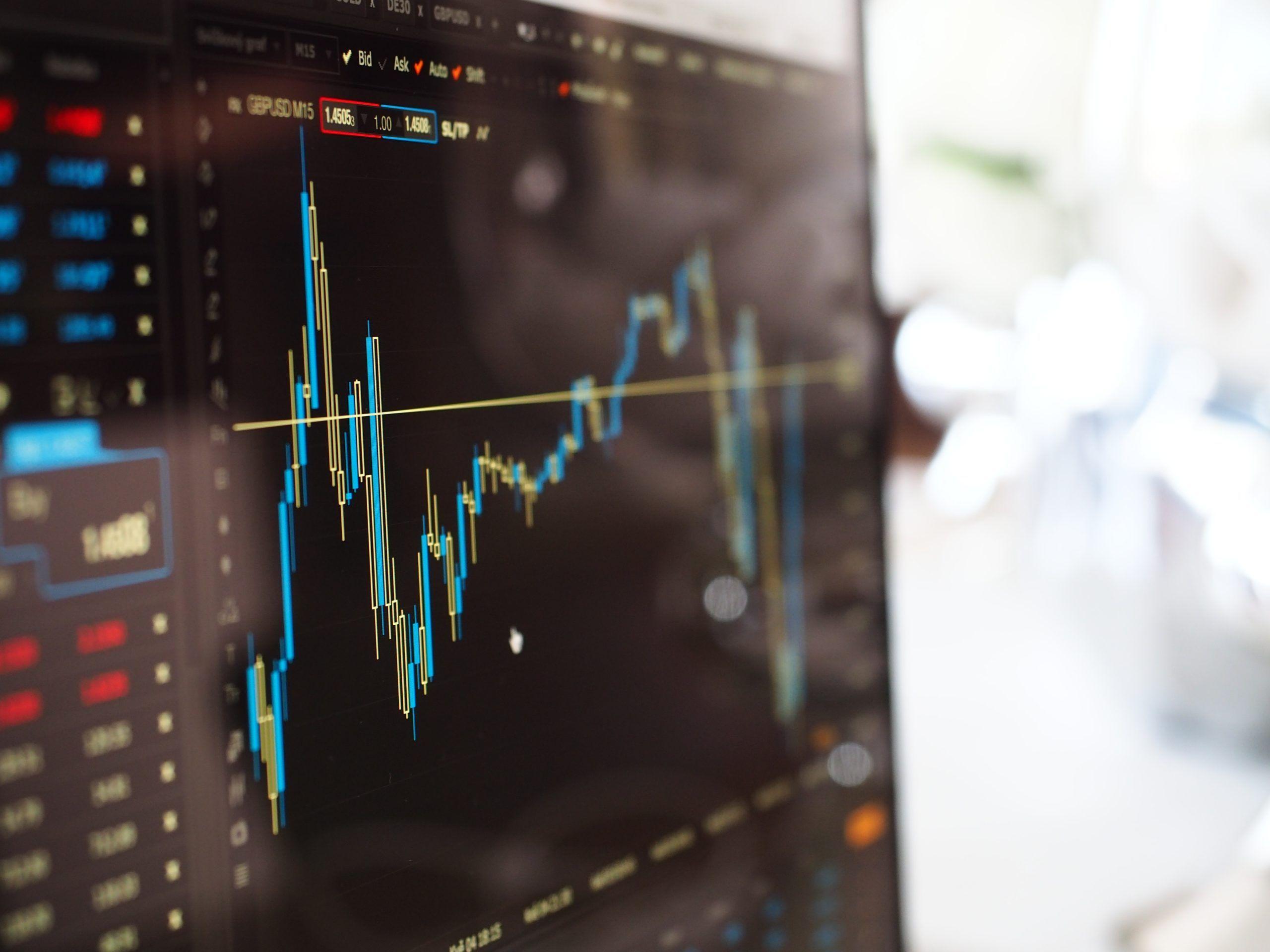 muestra de estadísticas de un software de inversión