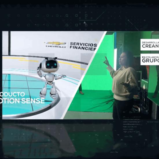 Robor Producto Motion Sense donde el robot imita los movimientos de una persona, desarrollado por CreanteLab en colaboración con Grupo ZEA