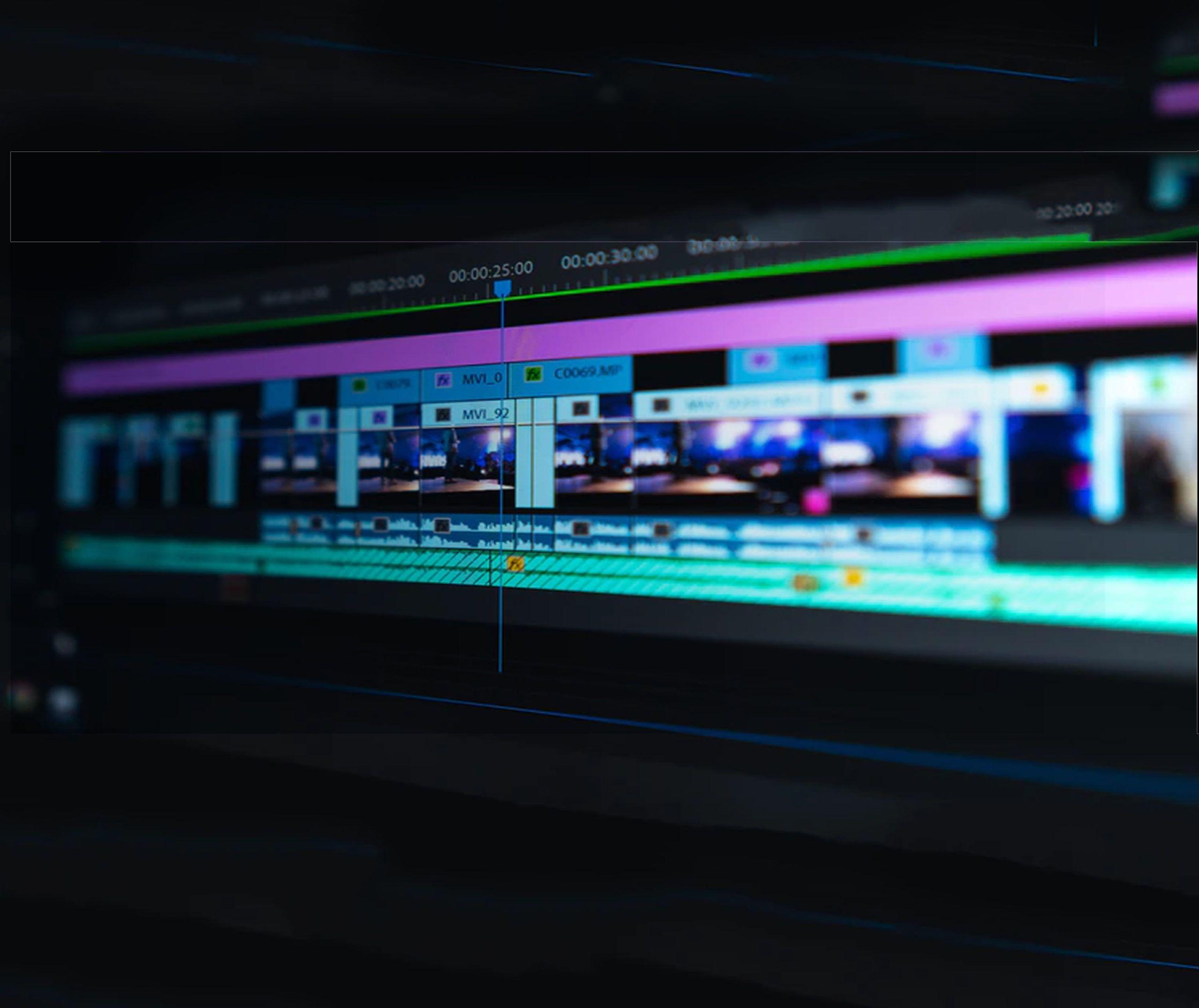 foto de la pantalla de un editor de video